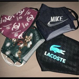 Nike, Gucci, Lacoste & Gucci fashion masks